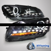 Передние фары VW Passat B7 USA angel eyes TLZ type