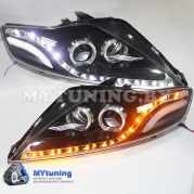 Передние фары Ford Mondeo 4 led JC style black