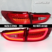 Задние фонари led red white для Mazda 6 / Atenza GJ