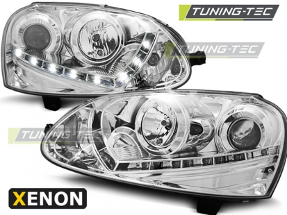 Передние фары VW Golf 5 daylight D2S chrome