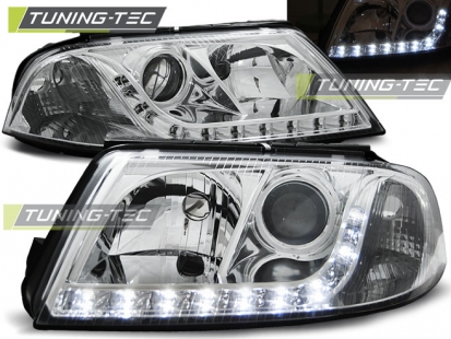 Передние фары VW Passat B5 GP daylight chrome