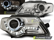 Передние фары VW Passat B6 daylight chrome