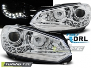 Передние фары VW Golf 6 daylight tru drl chrome