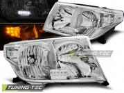 Передние фары Toyota Land Cruiser 200 chrome led