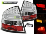 Задние фонари Skoda Octavia 2 chrome led bar