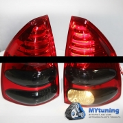 Задние фонари Toyota Land Cruiser Prado 120 red smoke led