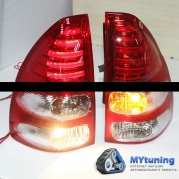 Задние фонари Toyota Land Cruiser Prado 120 red white led